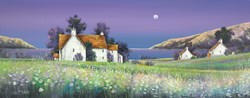 Spring Flowers by John Mckinstry - Glazed Original Painting on Stretched Canvas sized 39x16 inches. Available from Whitewall Galleries